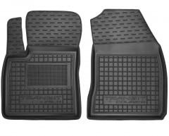 Коврики в салон для Ford Transit Courier '14- (1+1) резиновые, черные (AVTO-Gumm)