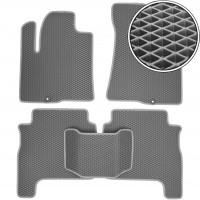 Коврики в салон для Hyundai Santa Fe '06-10 CM, EVA-полимерные, серые (Kinetic)
