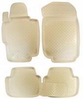 Коврики в салон для Honda Accord 7 '03-08 полиуретановые, бежевые (Nor-Plast)