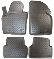 Коврики в салон для Volkswagen Tiguan '11-16 полиуретановые (Nor-Plast)