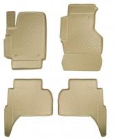 Коврики в салон для Volkswagen Amarok '10- полиуретановые, бежевые (Nor-Plast)