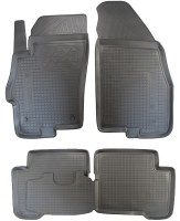 Коврики в салон для Fiat Linea '07-15 полиуретановые, черные (Nor-Plast)