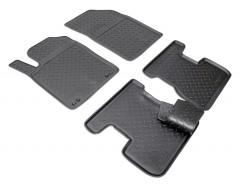Коврики в салон для Citroen DS3 '10-16 полиуретановые, черные (Nor-Plast)
