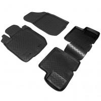 Коврики в салон для Renault Logan '04-12 полиуретановые, черные (Nor-Plast)