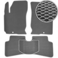 Коврики в салон для Kia Ceed '06-10, EVA-полимерные, серые (Kinetic)