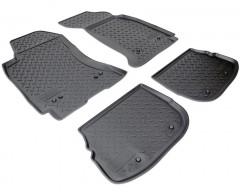 Коврики в салон для Audi A4 '95-00 полиуретановые, черные (Nor-Plast)