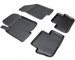Коврики в салон для Dodge Caliber '07-12 полиуретановые, черные (Nor-Plast)