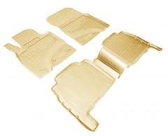 Коврики в салон для Lexus LX 570 '08-12 полиуретановые, бежевые (Nor-Plast)