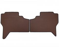 Фото 5 - Коврики в салон для Mitsubishi Pajero Wagon 3 '00-07, EVA-полимерные, коричневые с черной тесьмой (Kinetic)
