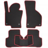 Фото 2 - Коврики в салон для Volkswagen Passat B6 '05-10, EVA-полимерные, черные с красной тесьмой (Kinetic)