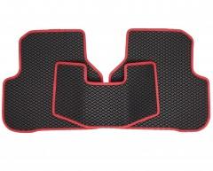Фото 5 - Коврики в салон для Volkswagen Passat B6 '05-10, EVA-полимерные, черные с красной тесьмой (Kinetic)