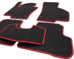 Фото 9 - Коврики в салон для Volkswagen Passat B6 '05-10, EVA-полимерные, черные с красной тесьмой (Kinetic)
