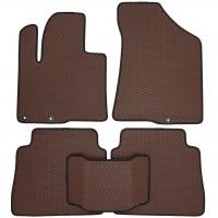 Фото 2 - Коврики в салон для Hyundai Santa Fe '10-12 CM, EVA-полимерные, коричневые с черной тесьмой (Kinetic)