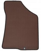 Фото 4 - Коврики в салон для Hyundai Santa Fe '10-12 CM, EVA-полимерные, коричневые с черной тесьмой (Kinetic)
