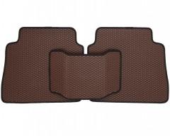Фото 5 - Коврики в салон для Hyundai Santa Fe '10-12 CM, EVA-полимерные, коричневые с черной тесьмой (Kinetic)