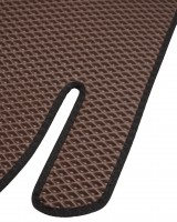 Фото 6 - Коврики в салон для Hyundai Santa Fe '10-12 CM, EVA-полимерные, коричневые с черной тесьмой (Kinetic)