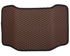 Фото 7 - Коврики в салон для Hyundai Santa Fe '10-12 CM, EVA-полимерные, коричневые с черной тесьмой (Kinetic)