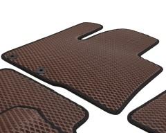 Фото 8 - Коврики в салон для Hyundai Santa Fe '10-12 CM, EVA-полимерные, коричневые с черной тесьмой (Kinetic)