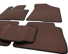 Фото 9 - Коврики в салон для Hyundai Santa Fe '10-12 CM, EVA-полимерные, коричневые с черной тесьмой (Kinetic)