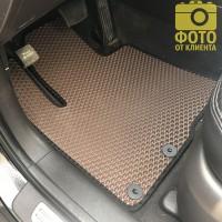 Фото 10 - Коврики в салон для Hyundai Santa Fe '10-12 CM, EVA-полимерные, коричневые с черной тесьмой (Kinetic)