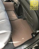 Фото 12 - Коврики в салон для Hyundai Santa Fe '10-12 CM, EVA-полимерные, коричневые с черной тесьмой (Kinetic)