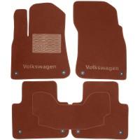 Коврики в салон для Volkswagen Touareg '18- текстильные, терракотовые (Премиум), 8 клипс