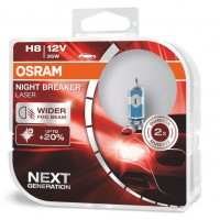 Автомобильные лампочки Osram Night Breaker Laser (NG) H8 35W 12V (Комплект: 2шт.)