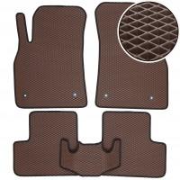 Коврики в салон для Chevrolet Cruze '09-, EVA-полимерные, коричневые (Kinetic)