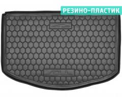 Коврик в багажник для Kia Soul '14-, (нижний), резино-пластиковый (AVTO-Gumm)