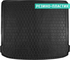 Коврик в багажник для Nissan X-Trail '08-15 (без органайзера), резино-пластиковый (AVTO-Gumm)