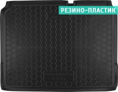 Коврик в багажник для Citroen C4 '11- хетчбэк, резино-пластиковый (Avto-Gumm)