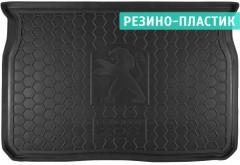 Коврик в багажник для Peugeot 208 '12-, резино-пластиковый (Avto-Gumm)