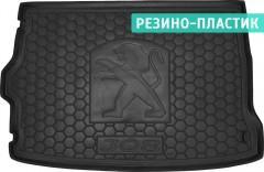 Коврик в багажник для Peugeot 308 '14- хетчбэк, резино-пластиковый (Avto-Gumm)