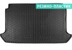 Коврик в багажник для Fiat Doblo Panorama '01-09, 5 мест, короткая база с сеткой, резино-пластиковый (AVTO-Gumm)