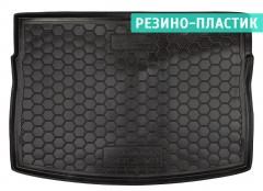 Коврик в багажник для Volkswagen Golf VII '12-, хетчбек, резино-пластиковый (AVTO-Gumm)