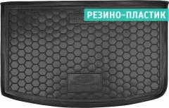 Коврик в багажник для Kia Rio '15-17 хетчбек, с органайзером, резино-пластиковый (AVTO-Gumm)