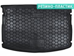 Коврик в багажник для Kia Rio '15-17 хетчбек, без органайзера, резино-пластиковый (AVTO-Gumm)