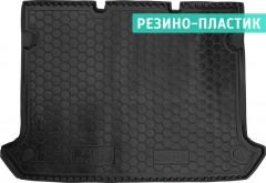 Коврик в багажник для Fiat Doblo Panorama '01-09, 5 мест, короткая база без сетки, резино-пластиковый (AVTO-Gumm)