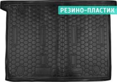Коврик в багажник для Fiat Doblo '10-, 7 мест, короткая база, резино-пластиковый (AVTO-Gumm)