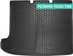 Коврик в багажник для Volkswagen Transporter  T5 '10- Caravelle, длин. без печки, резино-пластиковый (AVTO-Gumm)