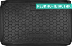 Коврик в багажник для Renault Captur '13-, верхний, резино-пластиковый (AVTO-Gumm)