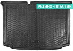 Коврик в багажник для Volkswagen Polo '09-17 хетчбек, нижний, резино-пластиковый (AVTO-Gumm)