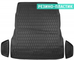 Коврик в багажник для Mercedes S-Class W222 '13-, без регулировки сид., резино-пластиковый (AVTO-Gumm)