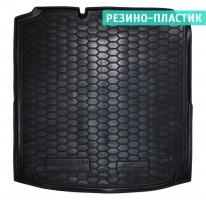 Коврик в багажник для Volkswagen Jetta VI '10-, коврик прямоугольный, резино-пластиковый (AVTO-Gumm)