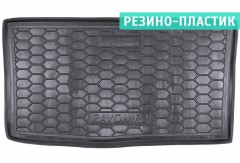 Коврик в багажник для Ravon R2 '15-, резино-пластиковый (AVTO-Gumm)