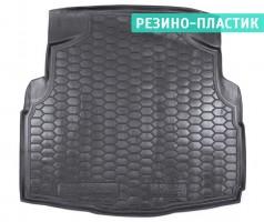 """Коврик в багажник для Mercedes C-class W205 '14-, седан без """"уха"""", резино-пластиковый (AVTO-Gumm)"""