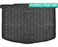 Коврик в багажник для Toyota Yaris '15-, нижний, резино-пластиковый (AVTO-Gumm)