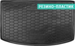 Коврик в багажник для Kia Rio с 2017 хэтчбек, верхний, резино-пластиковый (AVTO-Gumm)