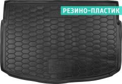 Коврик в багажник для Kia Rio с 2017 хэтчбек, нижний, резино-пластиковый (AVTO-Gumm)