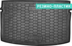Коврик в багажник для Volkswagen Polo '17-,хетчбек, резино-пластиковый (AVTO-Gumm)